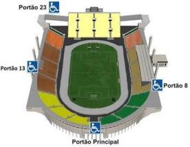 Acessibilidade no Estádio do Pacaembu
