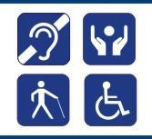 Símbolos que remetem pessoas com deficiência
