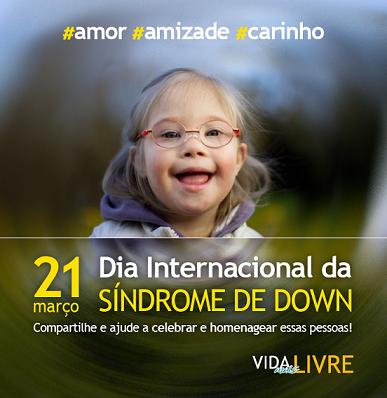 Imagem de criança com síndrome de down e homenagem ao Dia