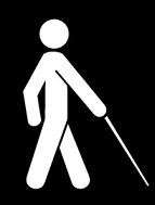 Símbolo da pessoa com deficiência visual