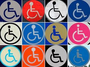 Foto de símbolos da acessíbilidade