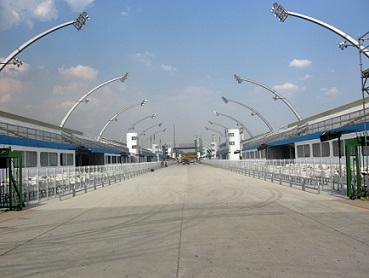 Foto do Sambódromo do Anhembi, em São Paulo