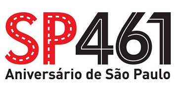 Foto da arte comemorativa do aniversário de São Paulo