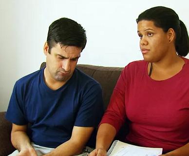 Foto de Miguel e sua esposa Fabíola