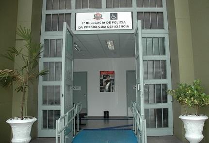 Foto da fachada da Delegacia