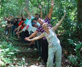 Foto de participantes da Trilha Inclusiva