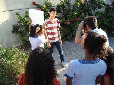 Foto de alunos do curso durante a aula