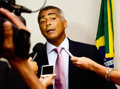 Foto de Romário no Senado