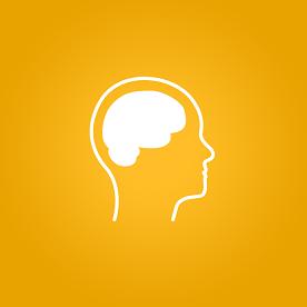 Foto de uma representação de um cérebro em fundo amarelo