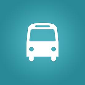 Foto de um ônibus em fundo verde