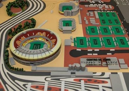 Foto da maquete do Parque Olímpico