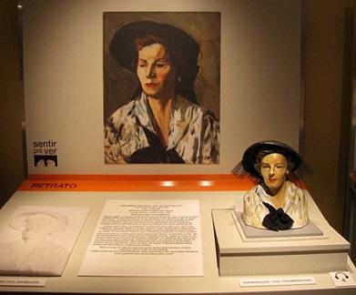 Foto de uma das obras expostas no Memorial