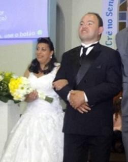 Foto de Ezequiel e Alessandra no casamento