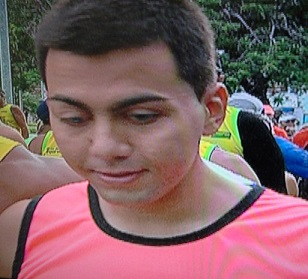 Foto de Fernando sorrindo após a corrida