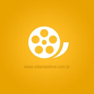 Foto do símbolo do cinema em fundo amarelo
