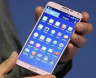 Foto de um Smartphone Samsung branco