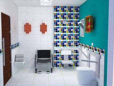 Foto de um exemplo de cômodo ideal para cadeirante