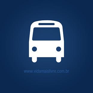 Foto de um ônibus em fundo azul escuro