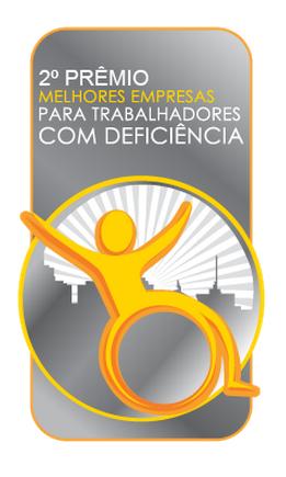 Foto do logo do Prêmio com informações