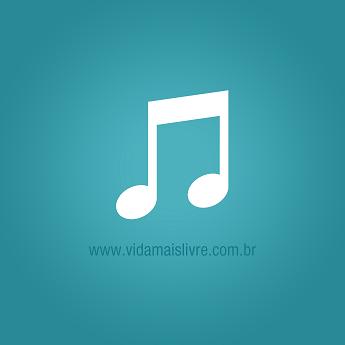 Ícone que representa notas musicais, em fundo verde.