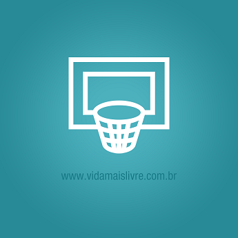 Ilustração de uma cesta de basquete em fundo verde