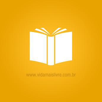 Ícone que representa um livro, em fundo amarelo.