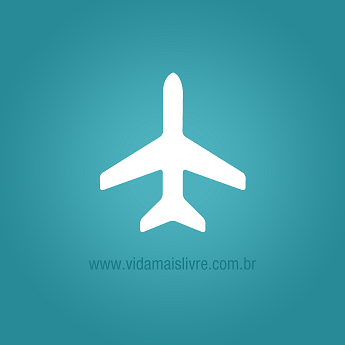 Ilustração de um avião em fundo verde