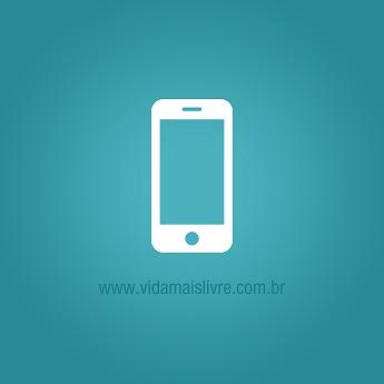 Ícone que representa um smartphone, em fundo verde