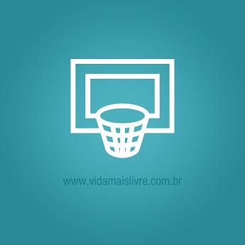 Ícone que representa uma cesta de basquete, em fundo verde.