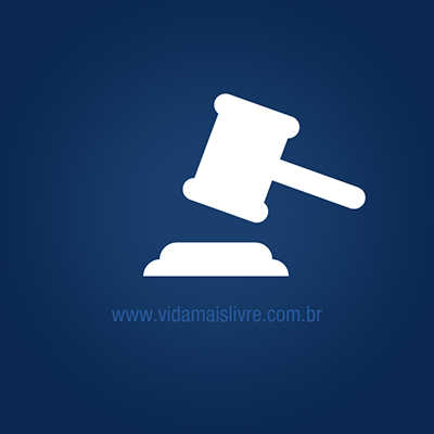 Ícone de martelo do juiz em fundo azul