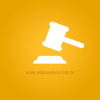 Ícone de martelo de juiz com fundo amarelo