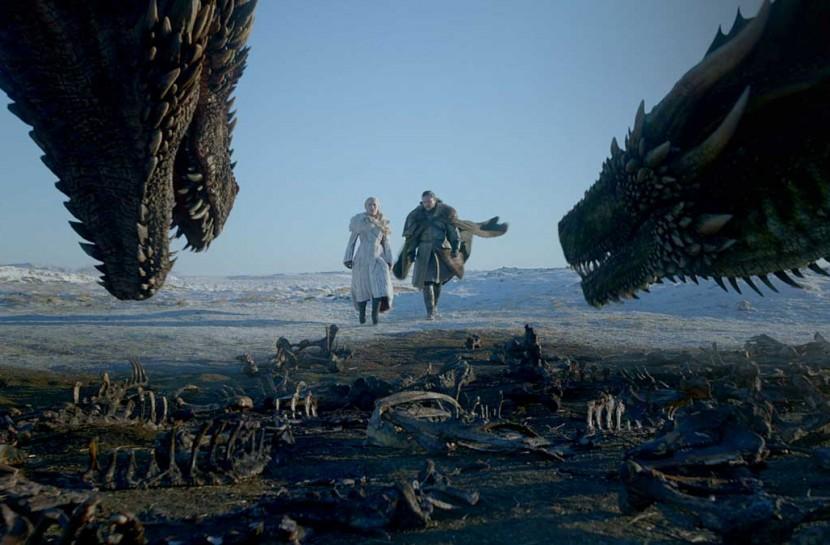 Imagem de uma das cenas da oitava temporada de Game of Thrones